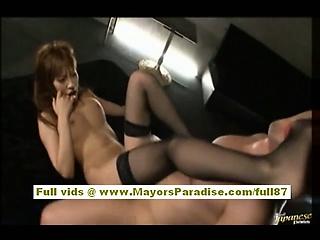 Kirara Asuka asian model has a down in the mouth botheration and gets fucked