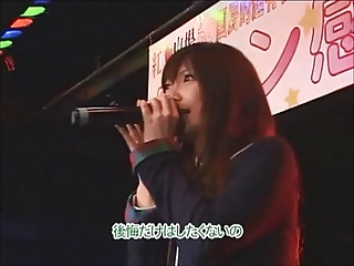 Japanese pop singer fucks her attendance (part 1)