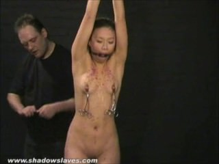 Asian bdsm of slave Tigerr Benson in get one's bearings bondage and extreme pain