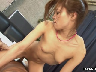 Lady Aoi is on the cock and she rides it perf