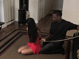 Sub asian whore gets boxtied
