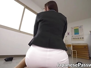 Horny Asian schoolboy wants to worship his teachers feet