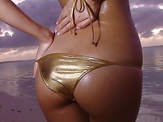 HARUKA - Oiled About Gold Bikini Wet Fetish (Non-Nude)