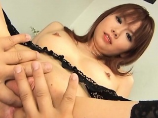 Hot japanese milf gives her lover a oral job