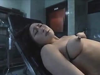 Fingers and toys deep in her asian anal