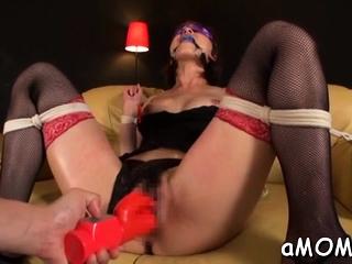 Milf with fine boobs mill schlong like a goddess
