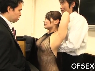 Nude office sugar-daddy gets manhandled by their way sexual colleagues