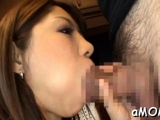 Enticing japanese Norika Minami finds a big lovestick
