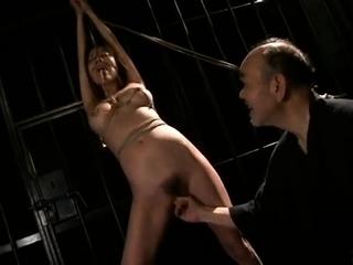 Japanese bondage hot intercourse with 18 pedigree old bdsm pussy