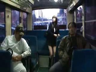 Japanese skirt gangbang In the inside of a bus