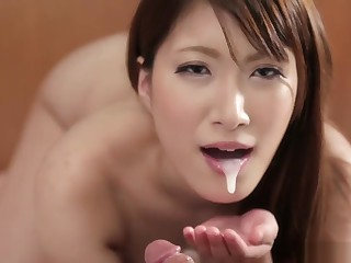 Yume Mitsuki POV blowjob with oral creampie