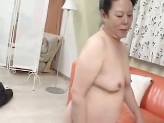 Japanese granny enjoys junior guy digging