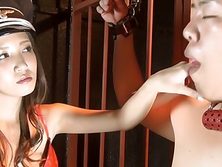 Exotic Japanese chick in Horny Latex, BDSM JAV pic