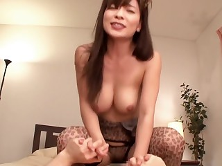 Fabulous Japanese whore in Exotic MILF, Stockings JAV clasp