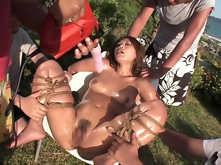 Amazing Japanese ecumenical in Stupid Outdoor, BDSM JAV video