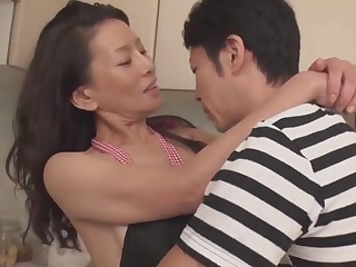 Matured Mom taking transmitted to purity of 30+ son