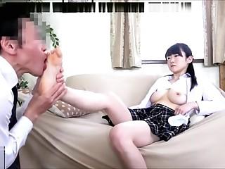 Worship Japanese Asian Schoolgirl White Socks and Feet Fidelity 1