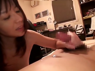 Asian mother bringing about her son as A blow-out genius