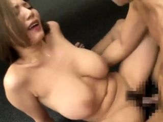 Beautiful Asian with enduring nipples blowjob