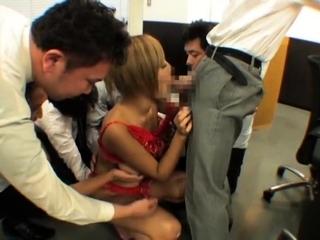 Asian slut systematize blowjob have sex