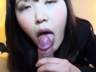 POV Asian homemade sex with sticky creampie
