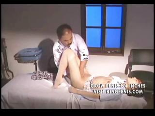 Japanese hot chick gets fucked by an old man in the dispensary