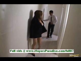 Risa hayama busty asian secretary at work