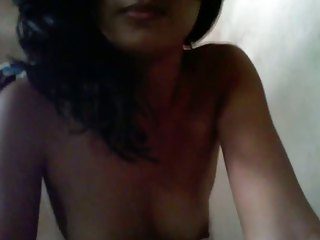 Indian Girl showing chest atop webcam